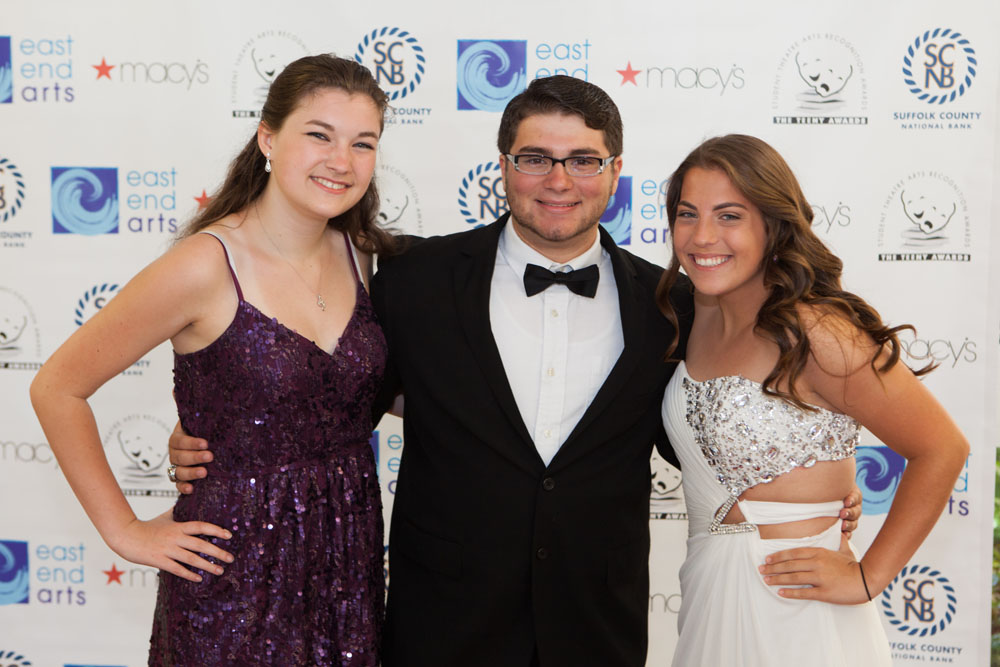Jessica Nicholson, Bryan Aguilar, and Megan Kelly from Riverhead High School. (Credit: Katharine Schroeder