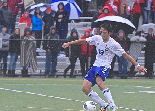 Kaan Ilgin scored twice in Mattituck's win Saturday for the Class B county title. (Credit: Robert O'Rourk)