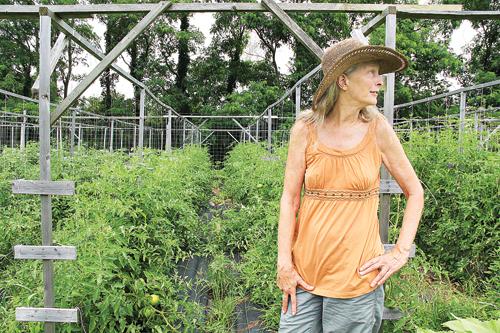 KK Haspel in 2013 at her farm in Southold.