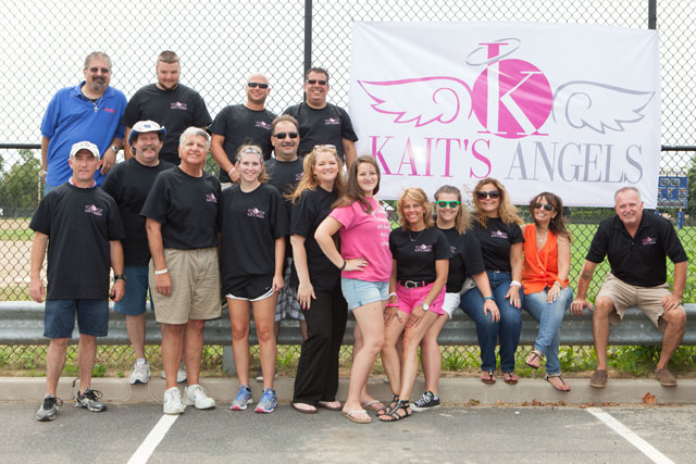 Poker run organizers pose for a photo. (Credit: Katharine Schroeder)