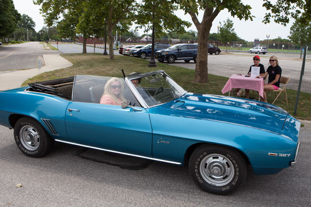 Ricky and Joan Galeazzi of Bohemia in their 1969 Camaro. (Credit: Katharine Schroeder)