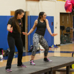 Carly Doorhy and instructor Gianna Pino lead the dance.