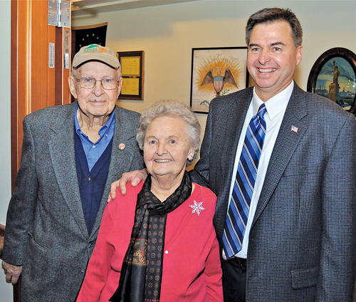 BARBARAELLEN KOCH FILE PHOTO | Albert Krupski Sr., left, with his wife, Mary and their son, Albert Krupski Jr.