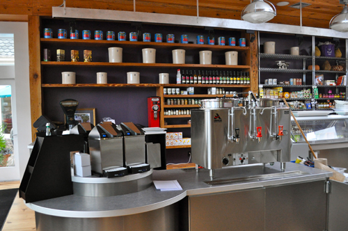 RACHEL YOUNG PHOTO | The new coffee bar at Love Lane Market in Mattituck.