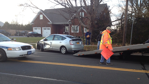 Two-car accident in Jamesport sends woman to hospital
