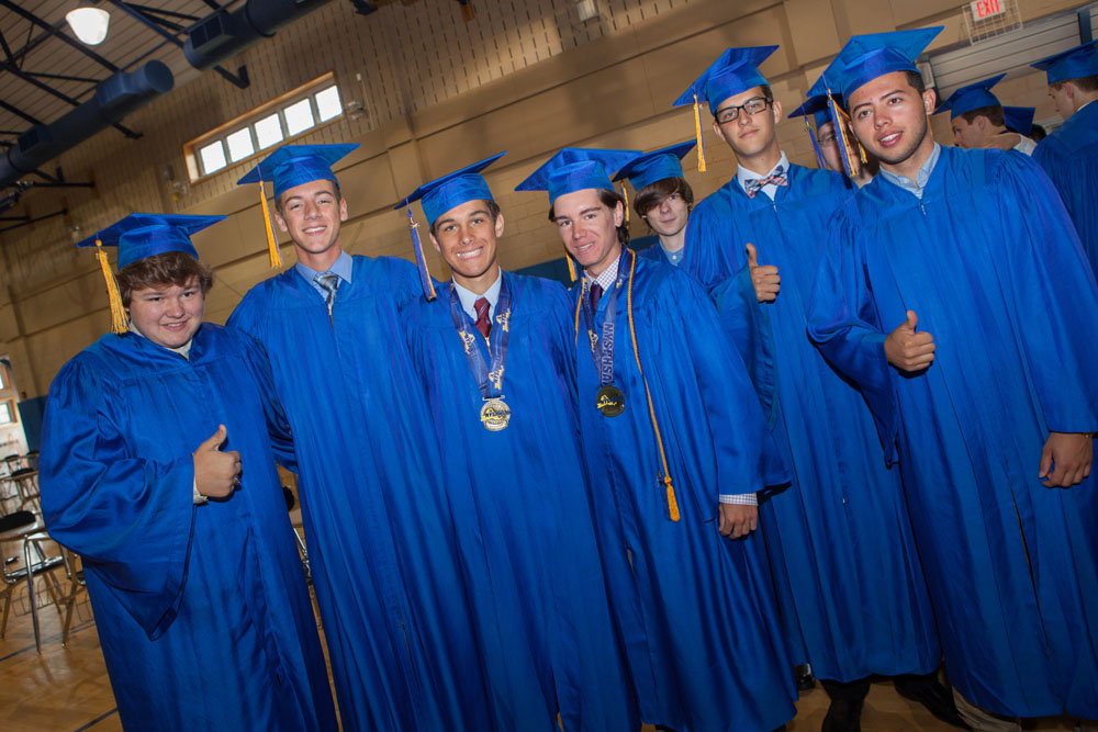 A group of graduates before the ceremony. (Credit: Katharine Schroeder)