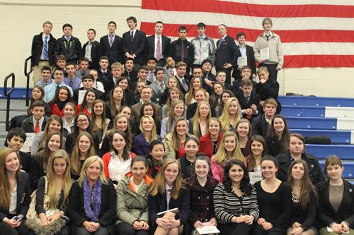Mattituck's DECA students.