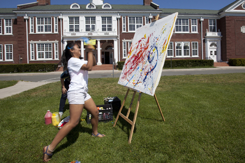 Photos: Mattituck students paint like Jackson Pollock