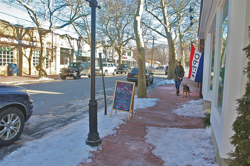 Some say the popularity of businesses like these on Love Lane have contributed to Mattituck's growth. (Credit: Barbaraellen Koch)