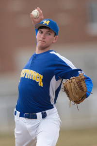 GARRET MEADE PHOTO | Mattituck's starting pitcher, Cameron Burt, did not allow a hit through the first four innings.