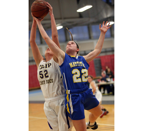 Mattituck basketball player Corinne Reda 022416