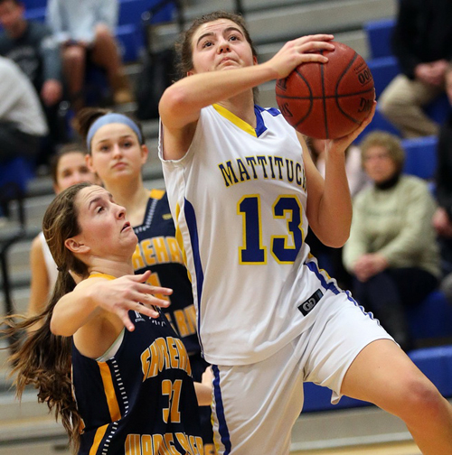 Mattituck basketball player Liz Dwyer 012516