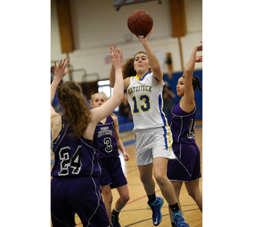 Mattituck basketball player Liz Dwyer 022417