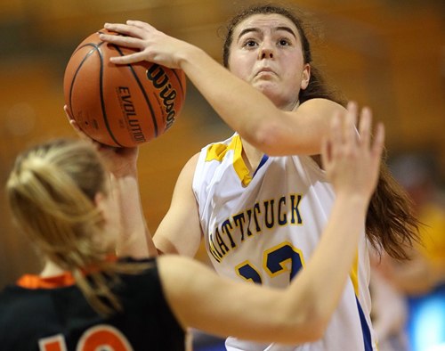 Mattituck basketball player Liz Dwyer 030516