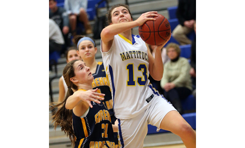Mattituck basketball player Liz Dwyer 112916