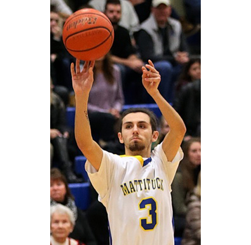 Mattituck basketball player Parker Tuthill 020916