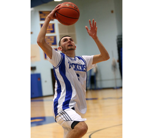 Parker Tuthill is one of the guards who make up the strength of the Mattituck team. (Credit: Garret Meade)
