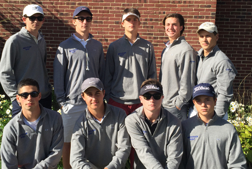 The Mattituck boys team set a tournament record to add the League VII Qualifying Tournament title to their regular-season league championship. (Credit: courtesy photo)