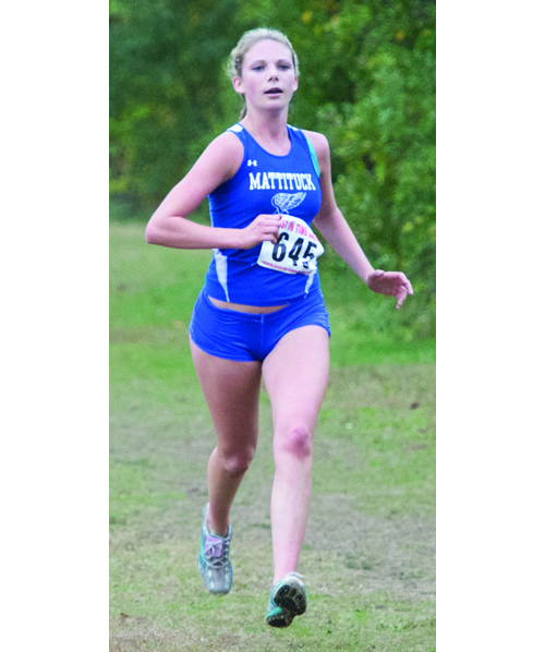 ROBERT O'ROURK FILE PHOTO | Kaylee Bergen, a junior, is one of Mattituck's three all-county runners.