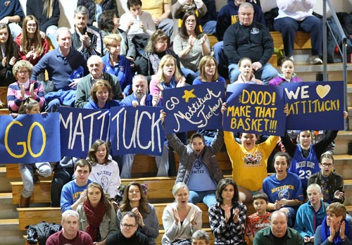 Mattituck girls basketball fans 030616