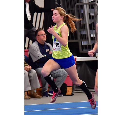 Mattituck runner Meg Dinizio 012217