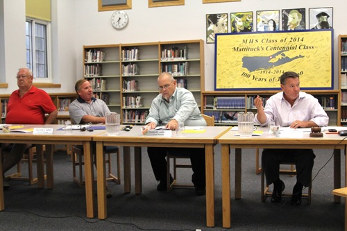 The Mattituck school board failed to elect a president at Thursday's reorganizational meeting. (Credit: Jennifer Gustavson)