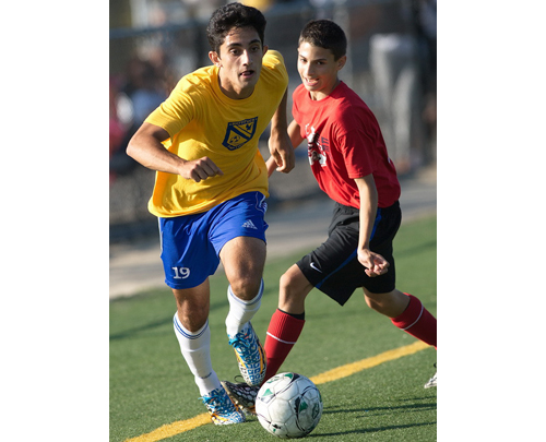 Kaan Ilgin assisted on Mattituck's goal against Miller Place in the Town of Brookhaven Summer League small schools final. (Credit: Garret Meade)