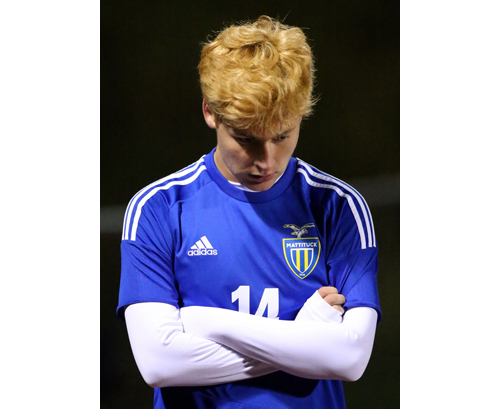 Mattituck soccer player Tommy Sullivan 102616