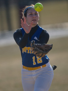 GARRET MEADE PHOTO | Mattituck shortstop Melissa Siegfried keeping focused on the ball.