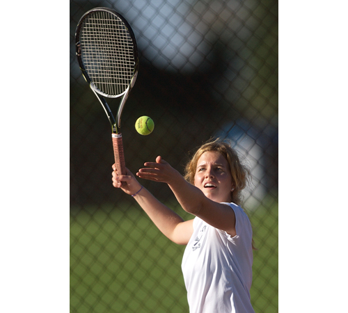 GARRET MEADE PHOTO | Mattituck's second singles player, Kyra Martin, helped the playoff-bound Tuckers to a 12-0 record and the League VIII championship.