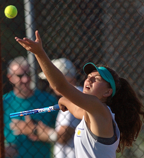 Mattituck tennis player Liz Dwyer 082916