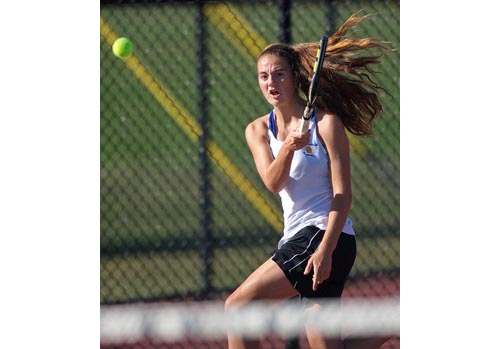 Liz Dwyer, Mattituck's all-division first singles player, went 12-3 as a freshman last year. (Credit: Garret Meade, file)