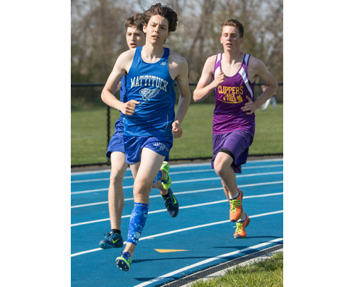 Jack Dufton set a Mattituck High School record in the 800 meters and has set his sights on the school's pentathlon record. (Credit: Katharine Schroeder, file)