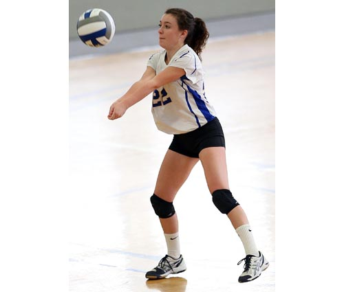 Former setter Meghan McKillop has excelled as a libero for Mattituck this season. (Credit: Garret Meade)