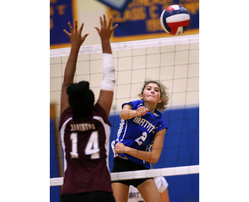 Mattituck volleyball player Viki Harkin 092916