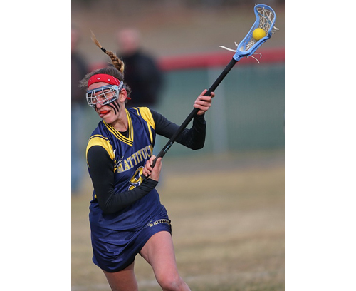 Katie Hoeg brought Mattituck/Greenport/Southold five goals, two assists and six ground balls in its win over Center Moriches. (Credit: Garret Meade)