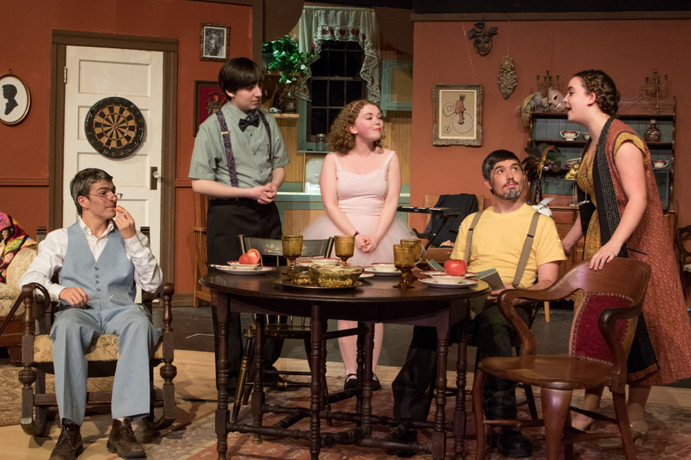 A scene from Mattituck High School's production of the comedy 'You Can't Take It With You.' (Credit: Katharine Schroeder)