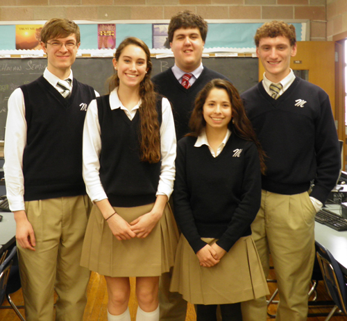 COURTESY PHOTO | McGann-Mercy High School students competed in this year's Moodys Mega Math Challenge.