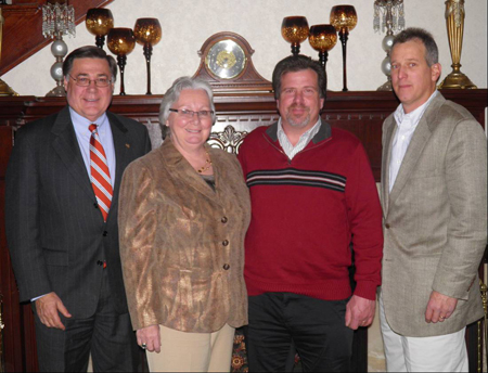 Principal's Award honorees (from left): Ed Romaine, representing his son, Keith; Patricia Blake; Dave Gamble; and Colin Ratsey.