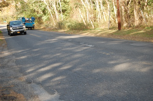 Portions of Moores Lane in Greenport will be repave prior to winter. (Cyndi Murray photo)