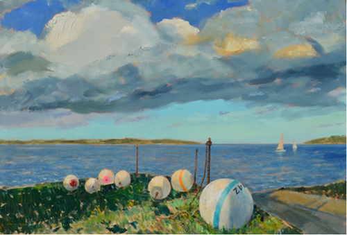 """ New Suffolk Moorings"" 30 X 40 Oil on Canvas (Credit: Courtesy)"