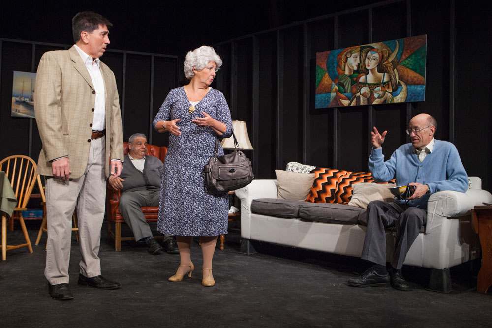 Bill Kitzerow (left), Susan Wojcik and Manning Dandridge star in 'Over the Hills and Through the Woods.' (Credit: Katharine Schroeder)
