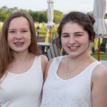 Actors Alissa Dabrowski and Leah Kerensky.