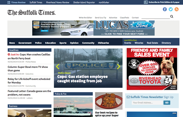 New Suffolk Times site