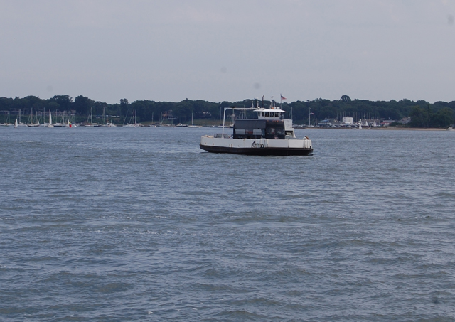 GRANT PARPAN FILE PHOTO | A North Ferry boat heading from Shelter Island to Greenport.