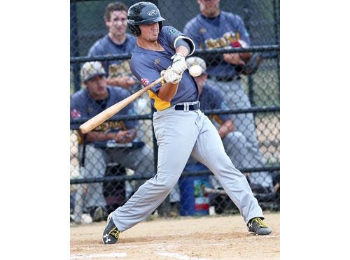 North Fork outfielder Dan Schock 071916