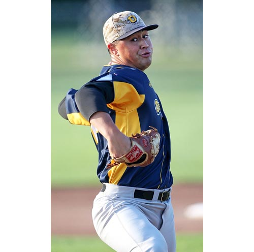 North Fork pitcher Tevita Gerber 071316
