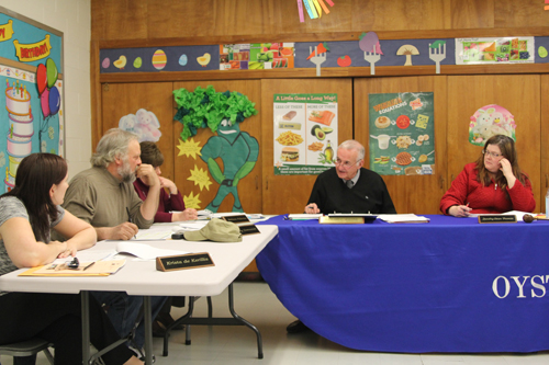 The Oysterponds school board held a budget workshop Tuesday. (Credit: Jen Nuzzo)