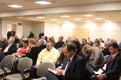 PSEG held a public meeting Thursday at the Riverhead Free Library to discuss a rate increase plan. (Credit: Jen Nuzzo)