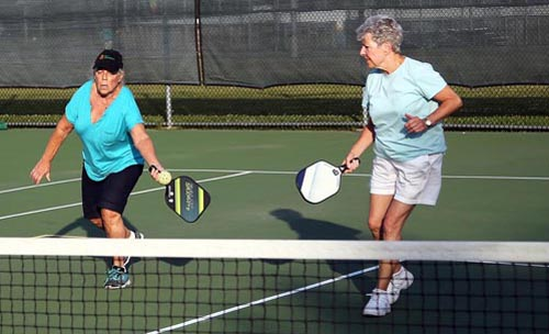 Pickleball players 071916